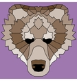 Brown low poly lined bear vector image