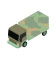 isometric military truck vector image