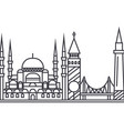 istambul line icon sign on vector image