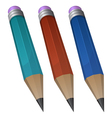 pencil in 3 different color vector image