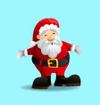 santa claus with a raised hand vector image