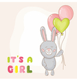 Cute Baby Bunny Background vector image vector image