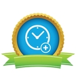 Add time round icon vector image