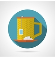 Flat color icon for teacup vector image