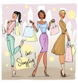 Pretty fashionable women vector image