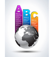 A B C Bars vector image vector image