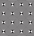 Black and white alternating squares four ray cut vector image