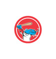 Catfish Baseball Player Batting Cartoon vector image