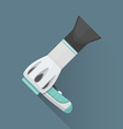 flat hairdryer icon vector image