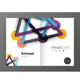 Geometric molecule abstract background vector image