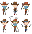 Sheriff and Bandit characters vector image