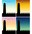 Silhouette lighthouse with different time of day vector image