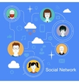 Social network media icons concept with people vector image