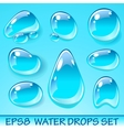 Water Drops Icon Set vector image