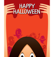 Halloween Ghost And Monsters Character Poster vector image