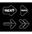 Set glass arrow buttons vector image vector image