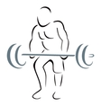 Weight lifter vector image vector image