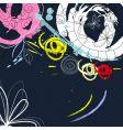 grunge decorative background vector image