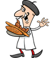 french baker cartoon vector image vector image