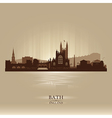 Bath England skyline city silhouette vector image