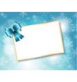 christmas gift card vector image vector image