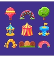 Amusement Park Elements Made Of Sweets vector image