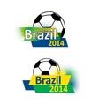 Brazil 2014 soccer banners vector image
