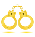 gold handcuffs vector image