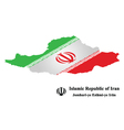 Isometric Iranian Flag vector image