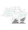 map of ukraine vector image