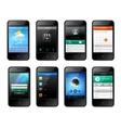 Mobile ui design vector image