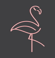 flamingo simple5 resize vector image vector image