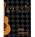 musical background with guitar vector image