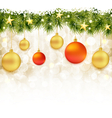 Soft and blurry Christmas background with baubles vector image
