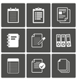 Documents Icons Notepad paper vector image vector image