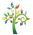 Abstract tree vecor icon vector image vector image