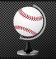baseball baseball globe isolated over vector image