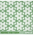 Green flowers seamless pattern on retro background vector image vector image