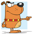 Angry dog pointing vector image vector image
