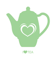 Teapot with heart vector image vector image