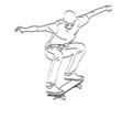 skateboarder line art