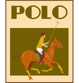 Polo player on horse poster vector image