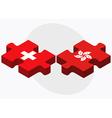 Switzerland and Hong Kong SAR China vector image