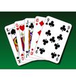 Poker hand - Straight vector image