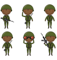 African-American soldiers vector image