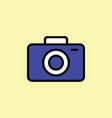 camera icon thin line on color background vector image