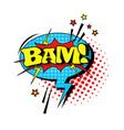 comic speech chat bubble pop art style bam vector image