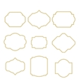 Gold border white empty frame set for cards vector image