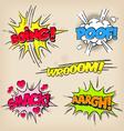 Grunge Comic Sounds set vector image