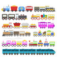 kids train cartoon baby railroad toy or vector image